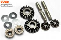 Option Part - E4RS II EVO / E4JS/JR II / E4RS III / E4RS4 - Differential Metal Bevel Gear Set (4+2)