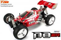 Auto - 1/8 Elektrisch - 4WD Buggy - RTR - 1800kv Brushless Motor - 4S - Wasserdicht - Team Magic B8ER Rot/Weiss