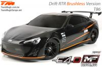 Auto - 1/10 Elektrisch - 4WD Drift - RTR - Brushless - Team Magic E4D-MF - T86