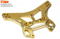 Option Part - E6 Trooper / Trooper II / E6 III - Aluminum Gold anodized - 6.3mm  Shock Tower (F/R)