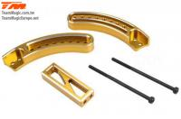 Option Part - E6 Trooper / Trooper II / E6 III - Aluminum Gold anodized - Fifth Wheel Adjusting Mount (Wheelie Bar)