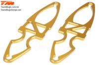 Option Part - E6 Trooper / Trooper II / E6 III - Aluminum Gold anodized - Battery Holder (2 pcs)