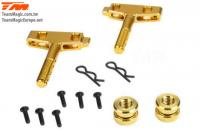 Option Part - E6 Trooper / Trooper II / E6 III - Aluminum Gold anodized - Battery Holder Mount (2 pcs)