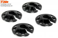 Replacement Part - E4RS II EVO / E4RS III / E4RS4 - Aluminum 7075 - Lowered Lower Springs cups (4 pcs)