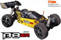 Auto - 1/8 Elektrisch - 4WD Buggy - RTR - 1800kv Brushless Motor - 4S - Wasserdicht - Team Magic B8ER Gelb/Schwarz