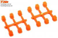 Replacement Part - E4RS III / E4RS4 - Suspension Mount Inserts Set (0, 0.2, 0,4) - Orange