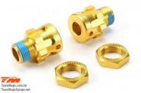 Ersatzteil - E6 III BES - Aluminium Gold eloxiert - Radmitnehmer +10mm Satz - Splined (2 Stk.)