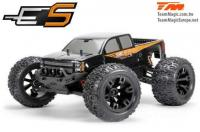 Car - 1/10 Monster Truck Electric - 4WD - RTR - Brushed - Waterproof - Team Magic E5 - Black Body