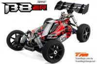Auto - 1/8 Elektrisch - 4WD Buggy - RTR - 1800kv Brushless Motor - 4S - Wasserdicht - Team Magic B8ER Rot/Schwarz