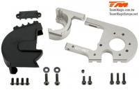 Ersatzteil - E6 III - Aluminium Titanium eloxiert - Einstellbar Motorhalter mit Getriebeschutz