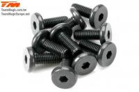 Screws - Button Head - Hex (Allen) - M3 x  8mm Half Thread (10 pcs)
