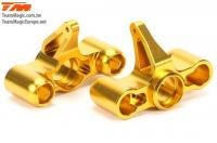 Option Part - E6 Trooper / Trooper II / E6 III - Aluminum Gold anodized - CNC Machined Steering Block (2 pcs)