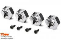 Option Part - E5 - Clamp Type Wheel Hexes 14mm - Titanium (4 pcs)