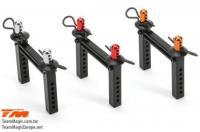 Tuningteil - E5 - Karosseriehalter aus Aluminium - Rot