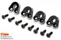 Option Part - E5 - Aluminum Pivot Ball Mount - Black (4 pcs)