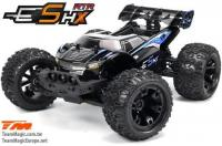 Car - 1/10 Racing Monster Electric - 4WD - RTR - Brushless - Waterproof - Team Magic E5 HX - Black/Blue Body
