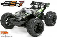 Car - 1/10 Racing Monster Electric - 4WD - RTR - Brushless - Waterproof - Team Magic E5 HX - Black/Green Body