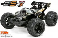 Car - 1/10 Racing Monster Electric - 4WD - RTR - Brushless - Waterproof - Team Magic E5 HX - Black/Orange Body
