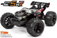 Car - 1/10 Racing Monster Electric - 4WD - RTR - Brushless - Waterproof - Team Magic E5 HX - Black/Red Body