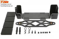 Option Part - E5 / E5HX - Aluminium and Graphite Battery Mount