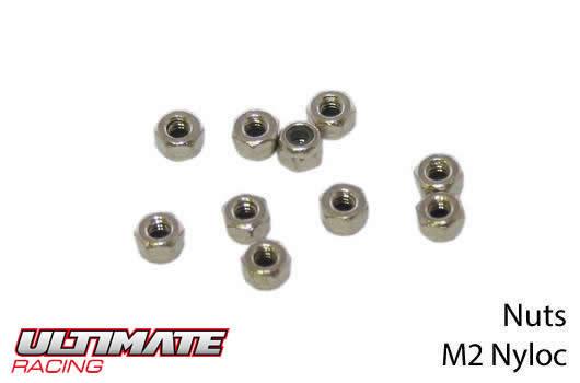 Ultimate Racing - UR165200 - Nuts - M2 nyloc (10 pcs)