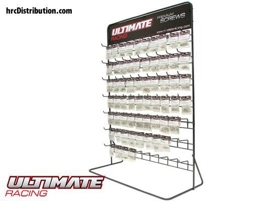 Ultimate Racing - UR1600-X2 - Screws - Ultimate Premium Screws Display Stand with 2x61 items (122 pcs)