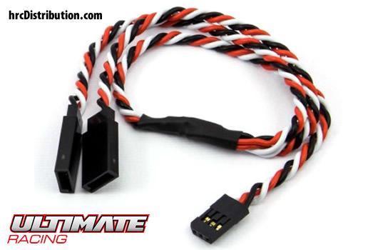 Ultimate Racing - UR46214 - Cable - Y - Twist - Futaba type - 30cm