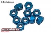 Nuts - M3 nyloc - Aluminum - Blue (10 pcs)