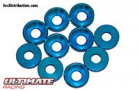Washers - Conical - Aluminum - 3mm - Blue (10 pcs)