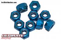 Nuts - M4 nyloc - Aluminum - Blue (10 pcs)