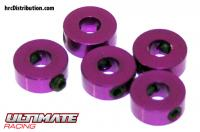 Stoppers - Aluminium - 4mm - Purple (5 pcs)