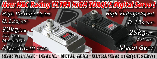HRC Racing High Voltage Ultra High Torque Digital Servos